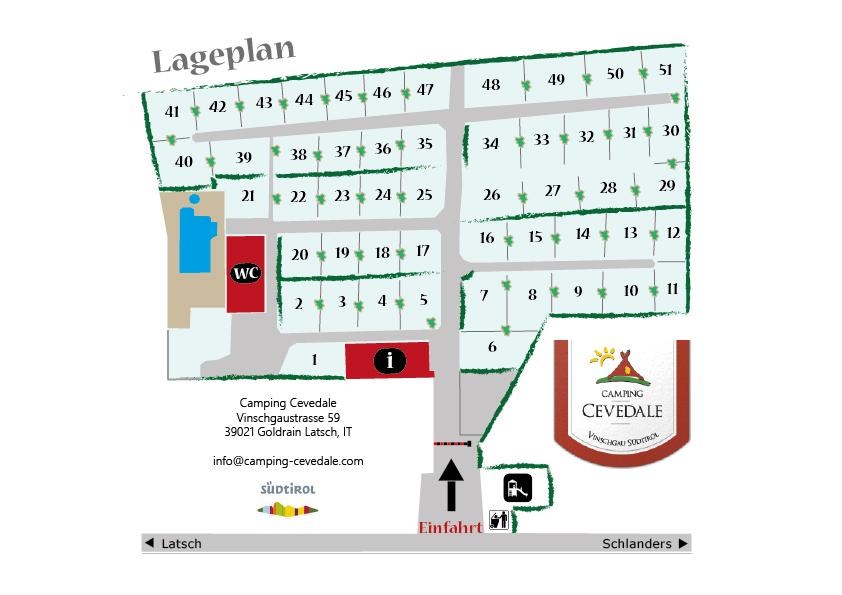 Lageplan Camping Goldrain Cevedale